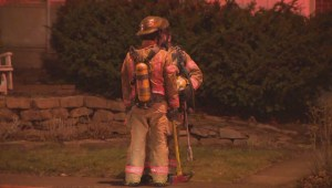 Raw video: Firefighters battle fire in Mercier
