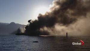 How will major fire impact work at Squamish terminal?