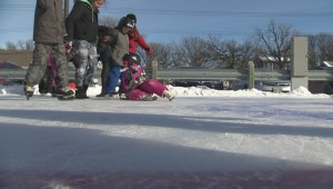 Outdoor rink's lessons go beyond the game