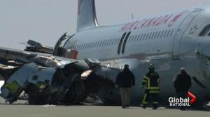 Air Canada Flight 624: Investigators examine wreckage at Halifax airport