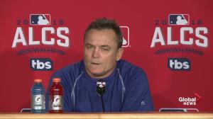 'We feel good about them all': Gibbons on his pitching staff for ALCS