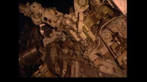 Astronauts conduct spacewalk to replace batteries on the ISS