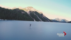 Vancouver figure skater dances on Widgeon Lake in viral video