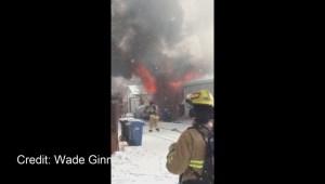 Viewer video: Garage fire in Woodbine