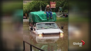 Flash flood swamps Kamloops