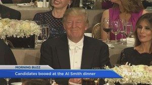 Hillary Clinton and Donald Trump trade jibes at Al Smith Dinner