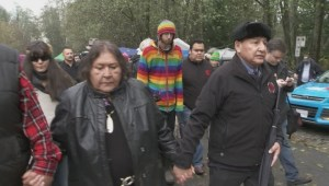 Grand Chief Stewart Phillip arrested on Burnaby Mountain