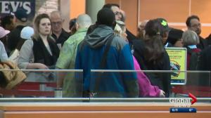 Edmonton airport busy as spring break begins