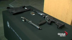 Police charge four men after weapons found during a high-risk vehicle stop