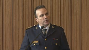 Danny Smyth speaks after being announced as police board's recommendation to become chief of Winnipeg police