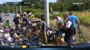 Massive crash mars day 3 of the Tour de France
