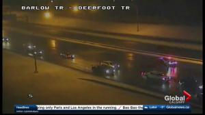 Section of Deerfoot Trail closed due to police incident