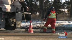 Spring sees new potholes pop up in Edmonton