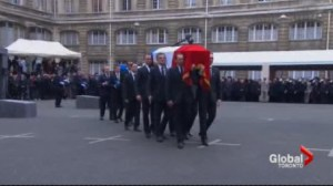 Victims of last week's terror attacks in France were buried in Paris and Jerusalem.