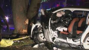 Raw: Car accident in Saint Bruno