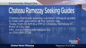 Community Events: Chateau Ramezay Seeking Guides