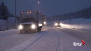 B.C. snow storm not quite as heavy as anticipated