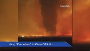 Using 'firenadoes' to clean oil spills