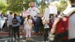 Trump supporters and opponents protest at rally in Phoenix, Arizona