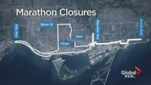 Toronto waterfront marathon forcing multiple road closures