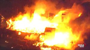 Massive fire consumes multiple buildings in Baltimore as riots continue