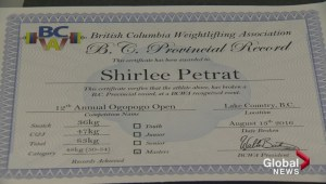Okanagan woman sets weightlifting records at 55