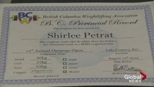 Okanagan woman sets weightlifting records at 55