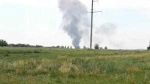 Raw video: Ukraine military chopper shot down near Slovyansk