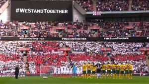 Wembley pays respects after London attack