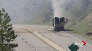 Toxic truck fire closes Coquihalla Highway