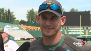 Edmonton Eskimos head coach Jason Maas has fighting words when it comes to 'City of Champions' slogan