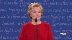 Presidential debate: Hillary Clinton slams Trump's 'stamina' comment with her lengthy resume