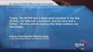Condolences over the death of Cst. David Wynn
