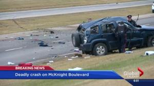 McKnight Boulevard crash leaves 1 dead, 2 in life-threatening condition