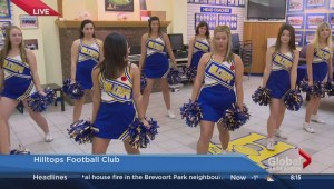 Saskatoon Hilltops cheerleaders send team off to national championship