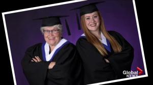 Alberta woman graduates with granddaughter