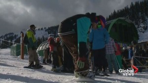 Skiers hope early opening means end to two-year dry spell in Alberta