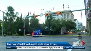 Police standoff shuts down section of downtown Calgary