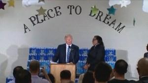 Pastor interrupts Donald Trump, says she didn't invite him to church to talk politics