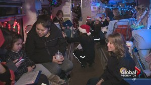Stollery kids visit Candy Cane Lane