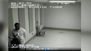 Tiger Woods takes breathalyzer test at police station after being stopped for suspected DUI