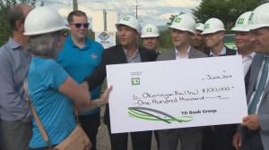 Okanagan rail trail fundraiser gets big boost