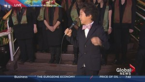 Young singer wows crowd at Christmas Wish Breakfast