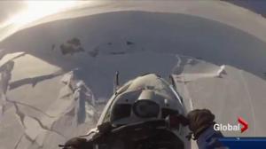 Alberta snowmobiler shares terrifying experience