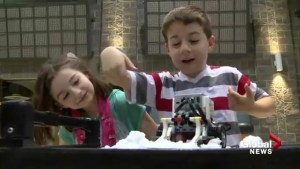 Calgary kids have fun checking out gadgets created by university students