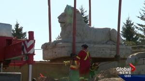 Original Centre Street lion begins new life