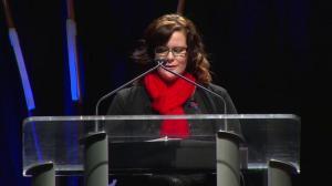 Shelly Wynn's cousin speaks at Const. David Wynn's funeral