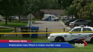 Publication ban lifted in triple homicide case