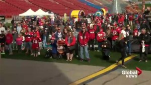 Thousands of Stampeders fans flock to McMahon Stadium for annual FanFest