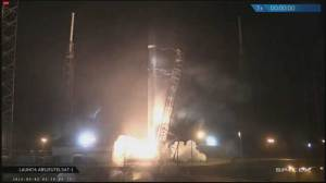 Space X launches Falcon 9 rocket carrying two satellites